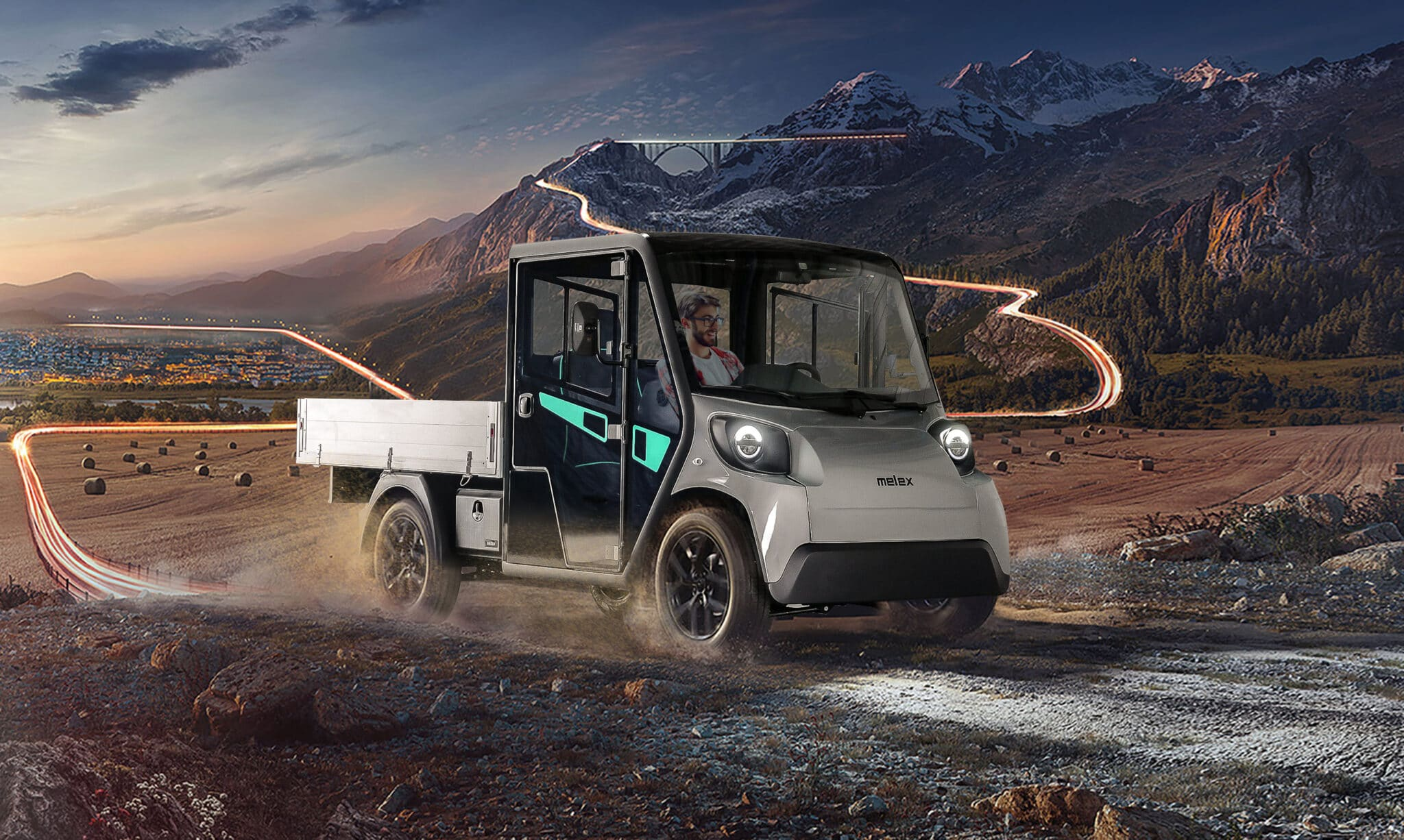 el arbejdsbil og el køretøj fra Melex